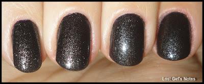 pupa 905 nail polish black shimmer