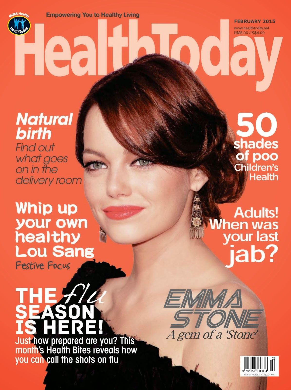 Actress, Model: Emma Stone - HealthToday Malaysia February 2015