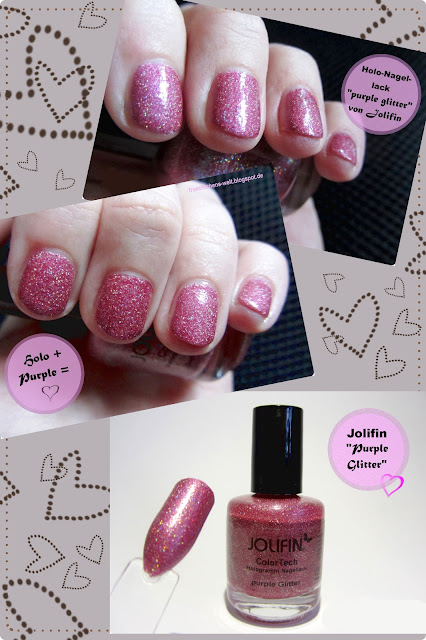 Review German Dream Nails Jolifin Color Tech Hologramm PURPLE GLITTER