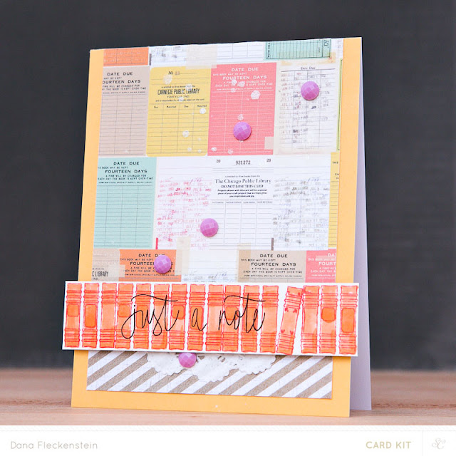 Just a Note card using Studio Calico Copper Mountain Card Kits by @pixnglue