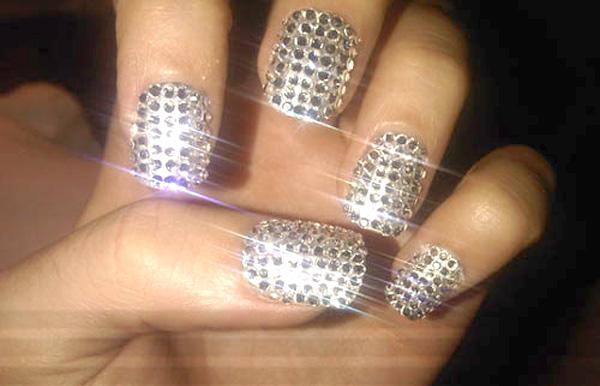 Modelos unhas decoradas diamante