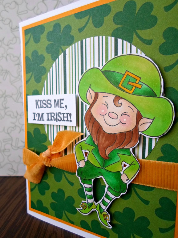Kiss Me Leprechaun / Peachy Keen Stamps