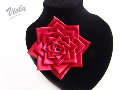 róża kanzashi