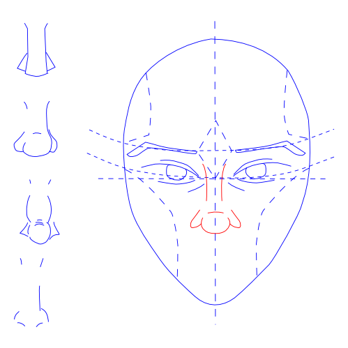 Man's Face -- Draw Nose