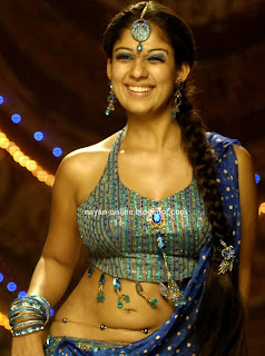 Nayanthara hot navel show stills