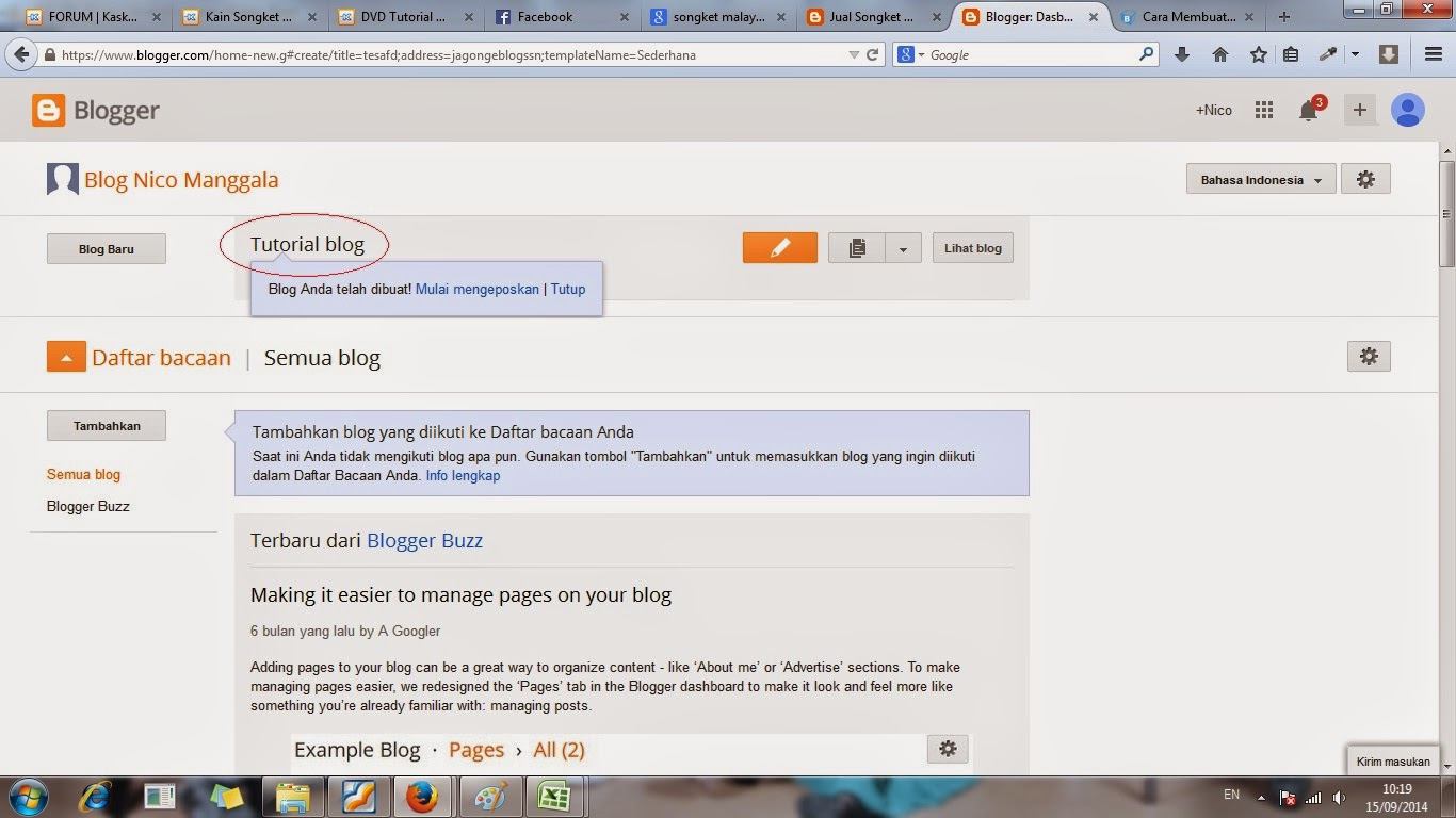 cara, gratis, membuat, blog, blogger
