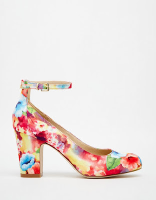 Asos printed low heeled shoes