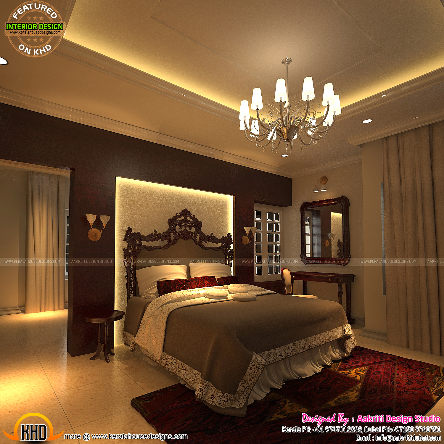 288 sq yd tamilnadu contemporary home keralahousedesigns for Bedroom designs tamilnadu