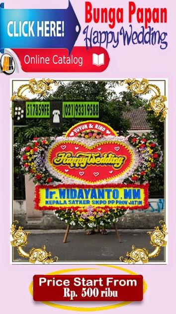 bunga papan happy wedding / pernikahan