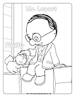 handy manny mr. lopart and fluffy coloring pages