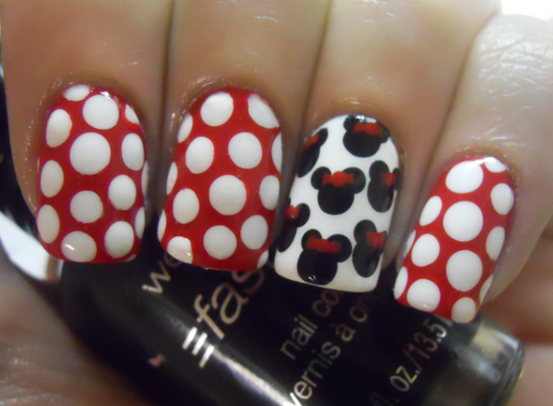holy manicures minnie mouse nails