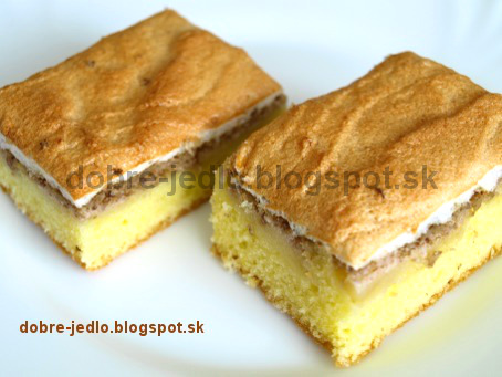 Jablkový koláč so snehom - recepty