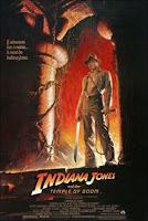 Cartel de la película 'Indiana Jones y el Templo Maldito', protagonizada por Harrison Ford. Dirigida por Steven Spielberg y producida por George Lucas. Making Of. Cine