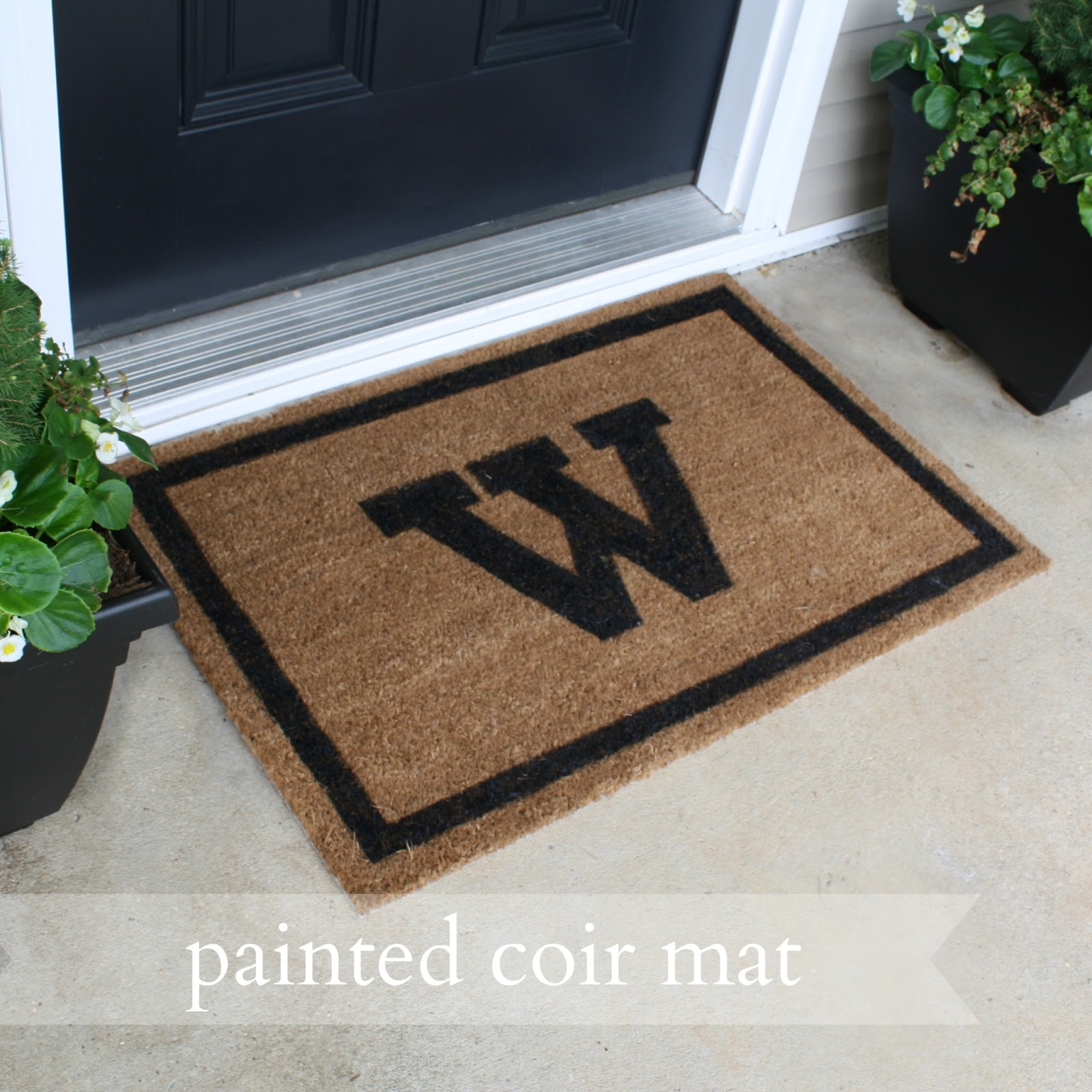 live a little wilder painted coir mat tutorial