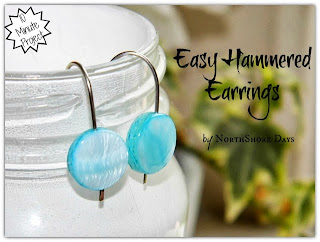 Easy Hammered Earrings