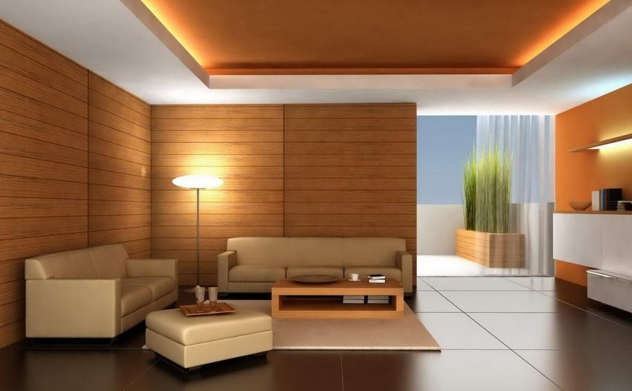 warna cat ruang tamu coklat kayu