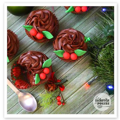 Navidad 2015 (i): Cupcakes De Chocolate Especiado / Christmas 2015 (i): Spicy Chocolate Cupcakes
