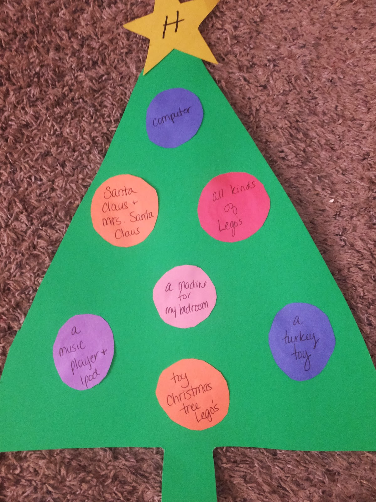 Kidspert christmas tree christmas lists for Christmas crafts for four year olds