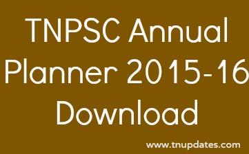 TNPSC Annual Planner 2015-2016