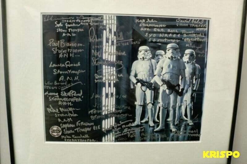 autografos en foto de soldados clon imperiales star wars