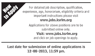 ksrlm org website apply online http www jobs ksrlm org