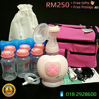 MALISH Lifestyle Micro-computer Electric Battery Powerbank Usb Breast Pump Single Snowbear Pinky Lacte Solo Autumnz