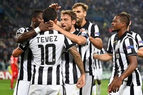 Juventus - Malmoe 2-0 Tevez Gol Champions League