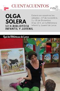 Cuentacuentos con Olga Solera en la BIBLIOTECA INFANTIL Y JUVENIL