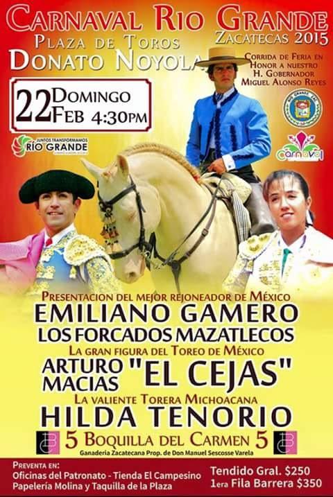 Gamero, Macias e Hilda Tenorio anunciados en Rio Grande, el 22/02.