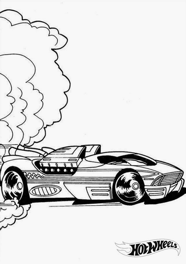 Hot Wheels Coloring Pages 34