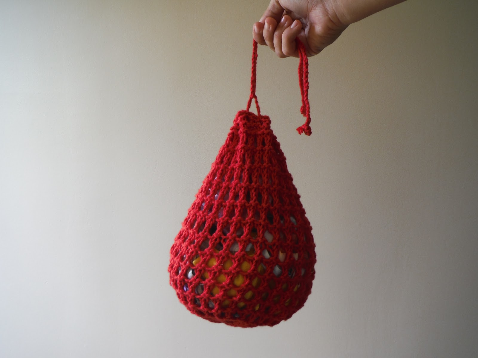 Knitting Pattern For A String Bag : The Lil Hayseed Blog: Knitted Drawstring Pouch Pattern