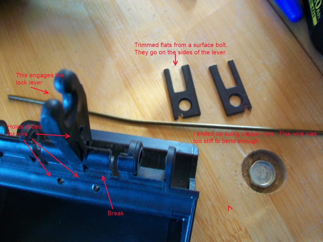 The Arleth Adventures Sprinter Sliding Door Handle Fix 2008 Wiring Diagram Close Examination Of Plastic Revealed A Break At Base Levers That Engage Lock Lever Thus Rendering It Too Weak To Push