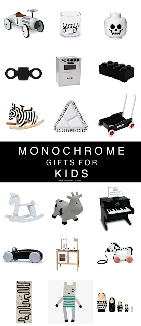 Monochrome gifts for kids this Christmas.