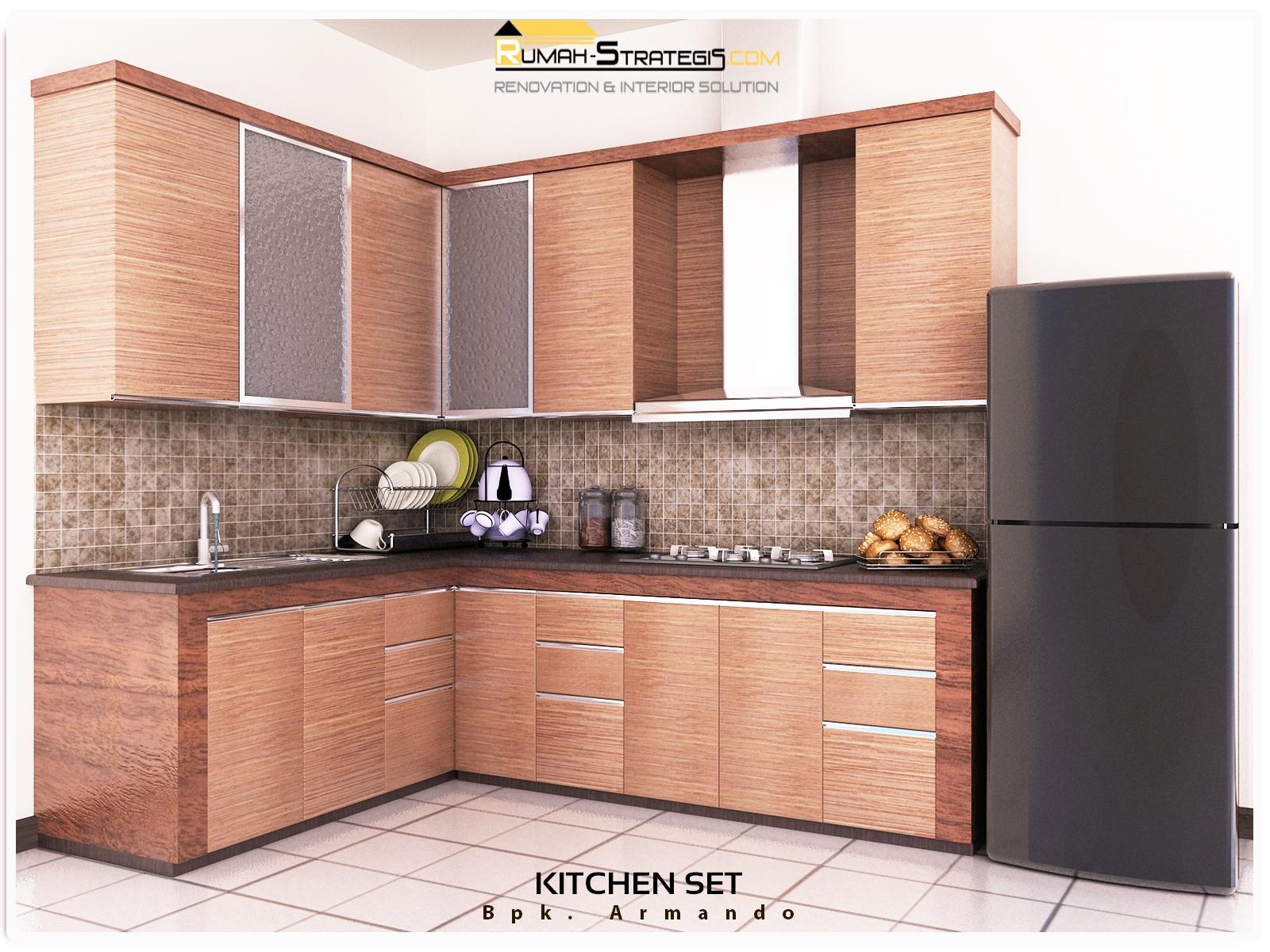 Design Of Drafter Kitchen Set Bpk Armando