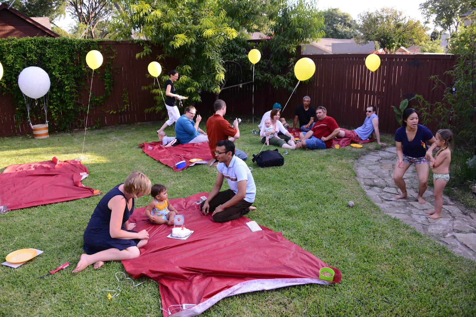 A Hot Air Balloon First Birthday Party India Loves Texas