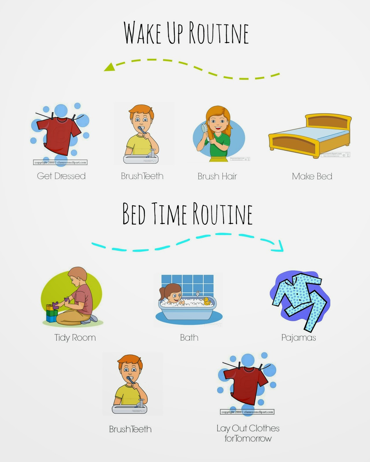 Morning & Evening Routine Chart