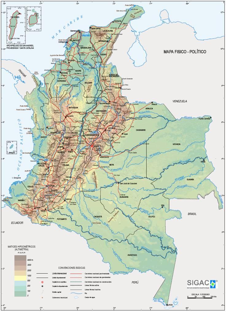 geografia colombia: