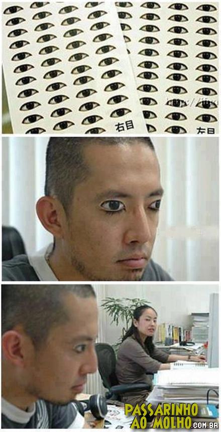 palpebras falsas, olhos, cochilo, tapa olhos