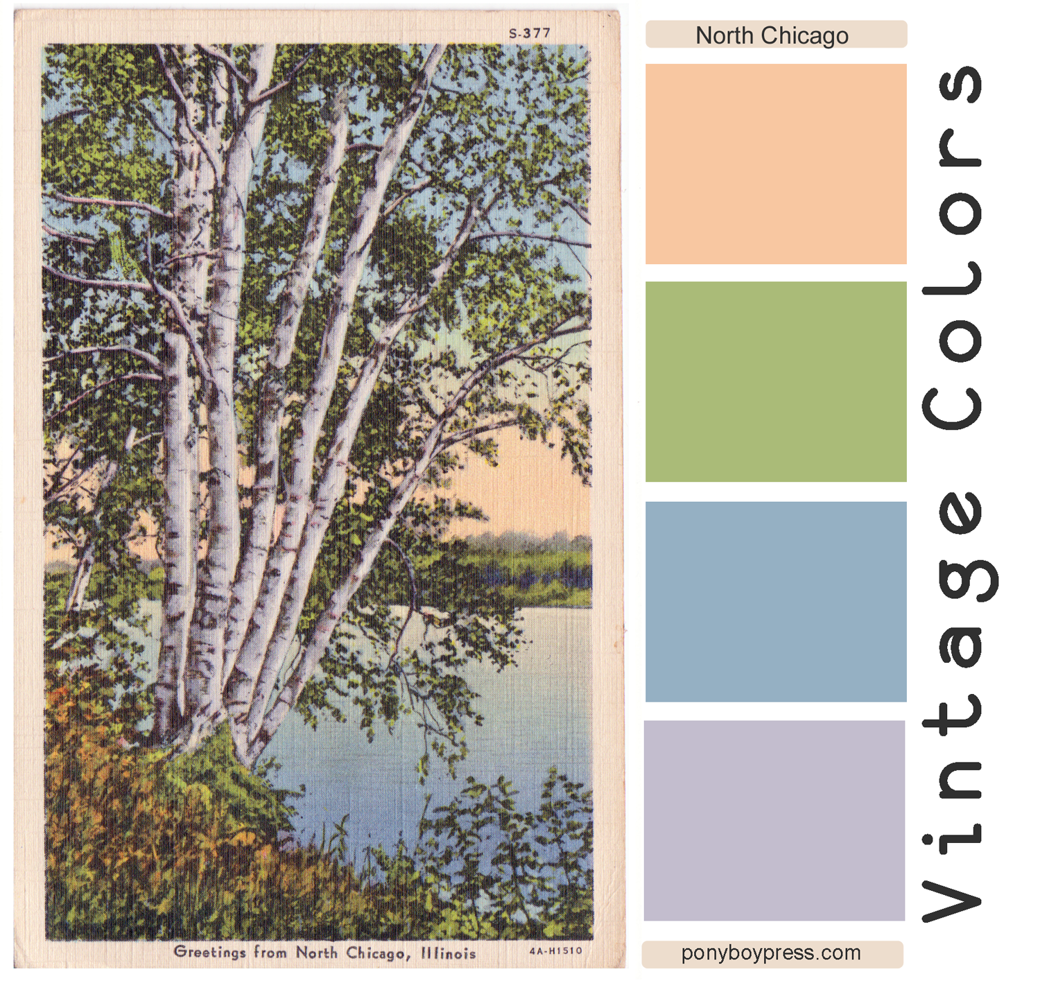 Vintage Color Palette - Greetings from Chicago - Ponyboy Press blog