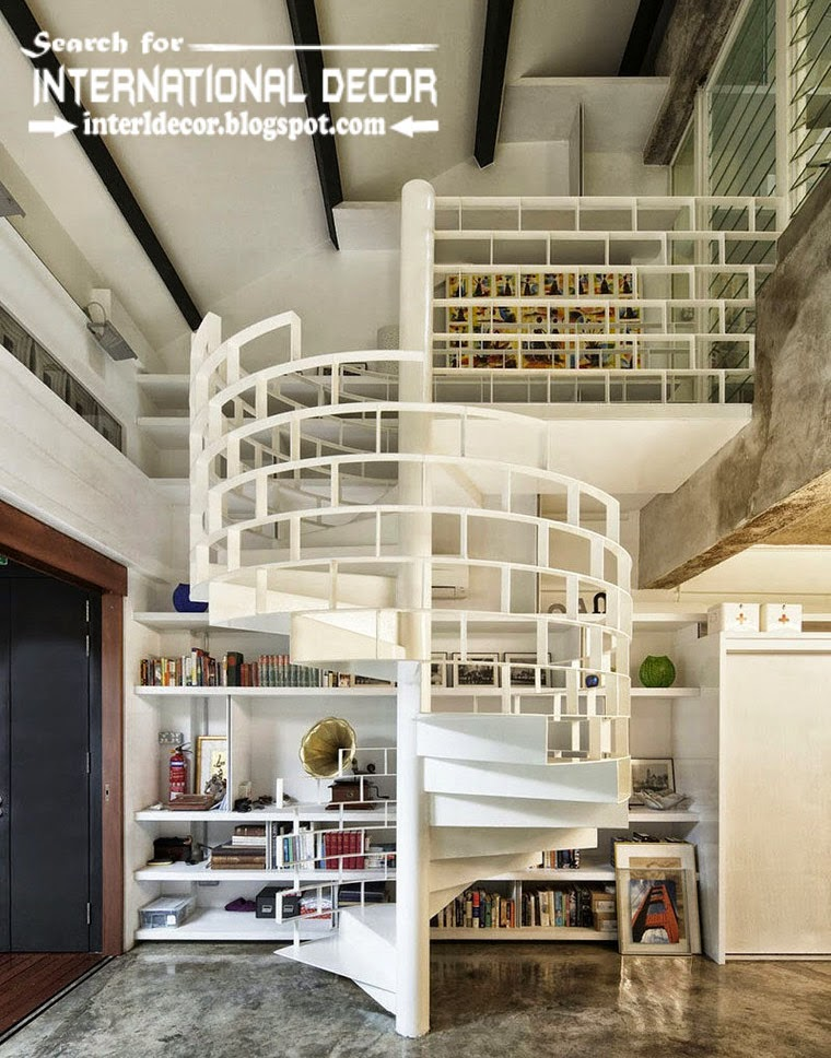 creative spiral stairs design 2015 with steel staircase for modern interior