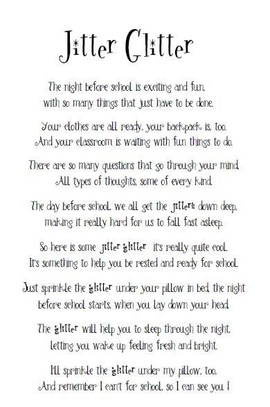 picture relating to Jitter Glitter Poem Printable called Mrs. Miners Kindergarten Monkey Organization: Jitter Glitter
