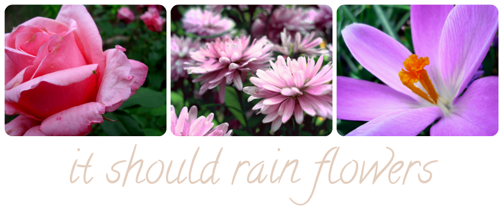 it should rain flowers