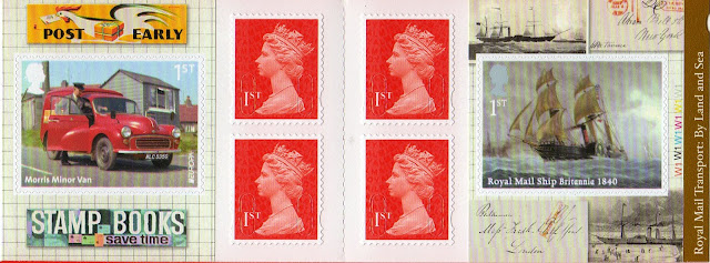 Stamp booklet with Cutty Sark and Post Van (Europa) stamp.