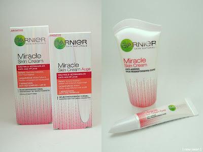 Die Miracle Skin Cream & Miracle Skin Cream Auge von Garnier