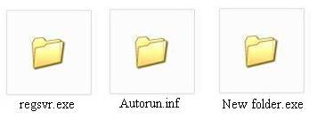 New Folder.exe and Regsvr.exe Virus