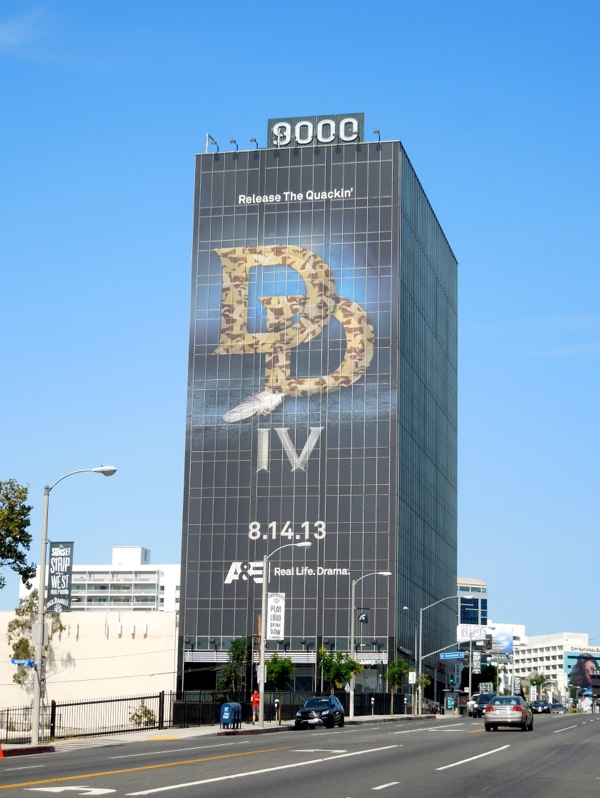 Giant Duck Dynasty season 4 billboard Sunset Strip