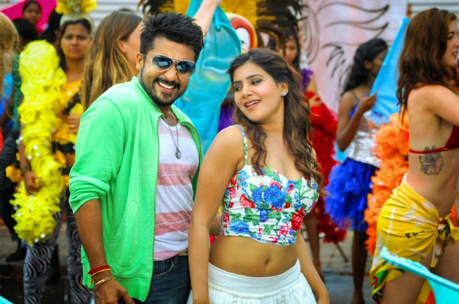 Anjaan Surya and Samantha Cute Stills