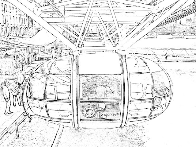 sketch of London Eye capsule