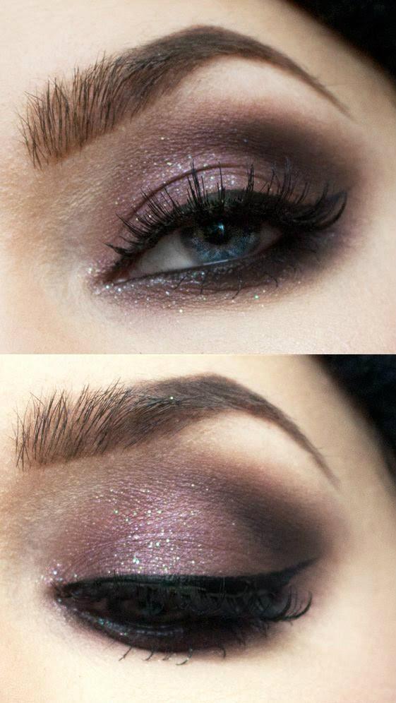 Smokey purple eyeshadow for this Valentine's