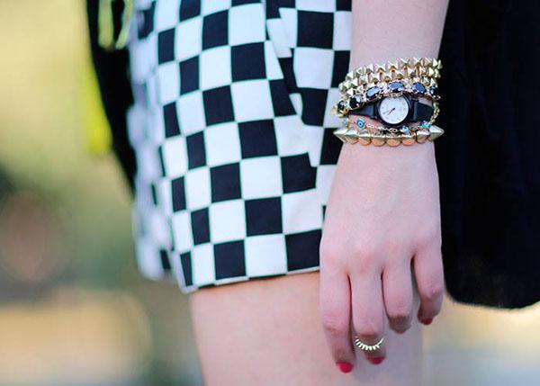 semi joias Moda EOS - pulseiras spikes